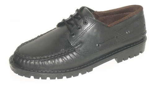 zapatos colegial nauticos leñador suela de goma   33 al 45