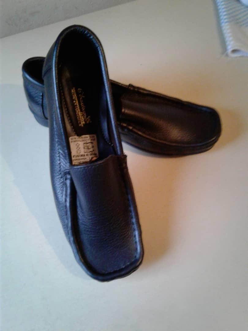 7a3db20ee0f 000 36 Bs Talla niña Cuero 00 Colegiales De Negro Zapatos 20 xTwYa4zq1