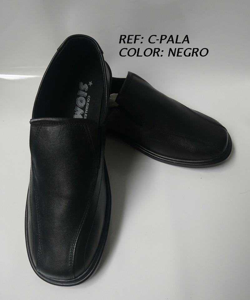 9160c900b5d zapatos colegiales escolares en negro de caucho cuero hombre. Cargando zoom.