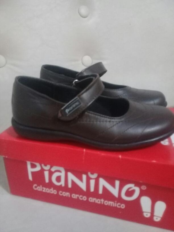 1b23654c Zapatos Colegiales Marca Pianino Marrones De Cuero - $ 1.100,00 en ...