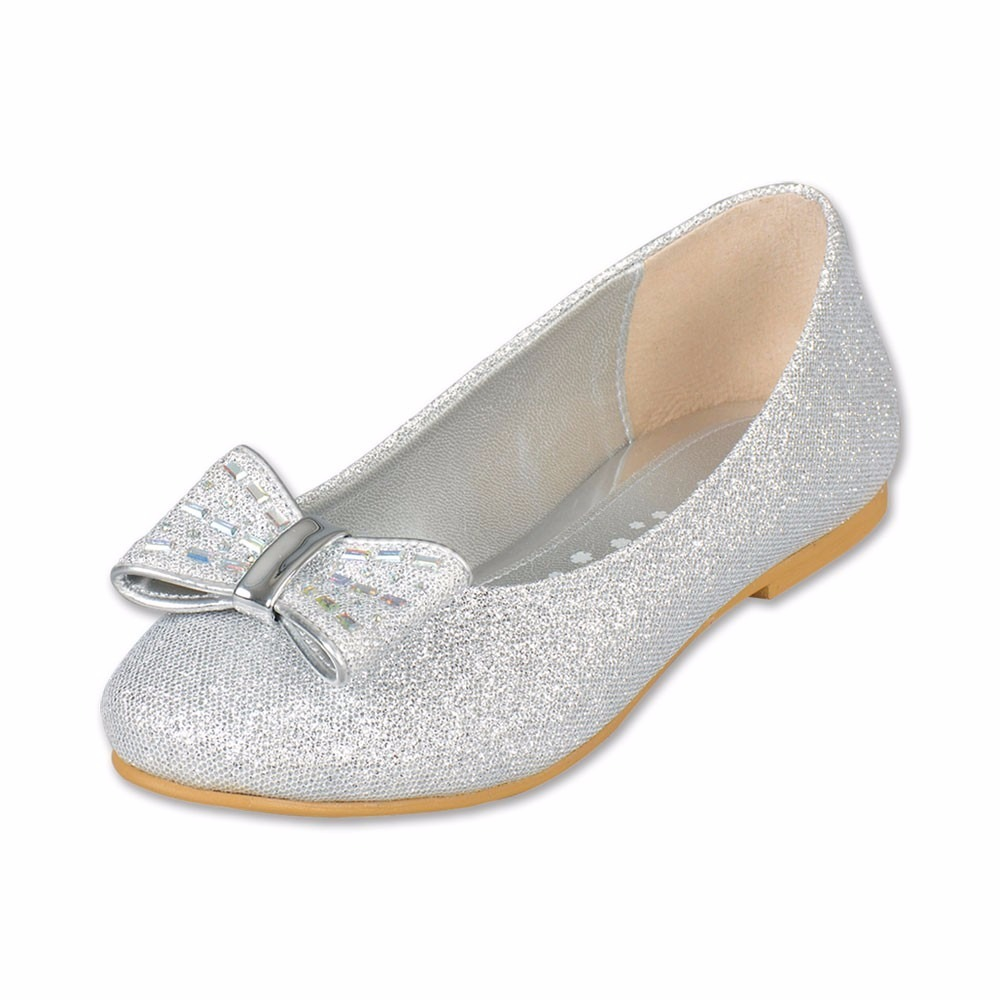 comprar popular e338f 9b3c5 Zapatos Color Plata Para Niña Del 18 Al 21. 005nd4
