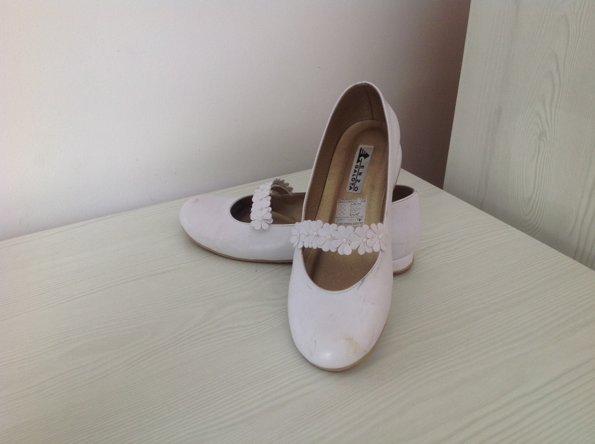 a2ad71c69 Zapatos Comunion Niña Enzo Galota Talla 33 Excelentes - Bs. 80.000 ...