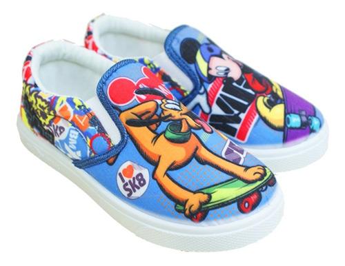 zapatos con elástico mickey