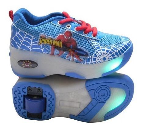zapatos con luces y ruedas