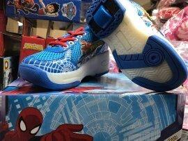 zapatos con ruedas minnei frozen pony spiderman y los vengad