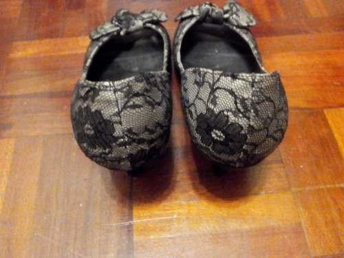zapatos con tacos y encaje 37,5