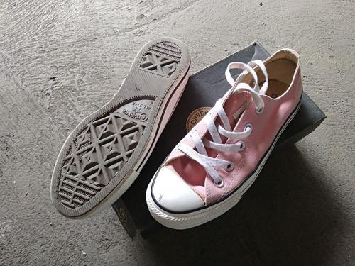 zapatos converse all star de dama talla 36.5 rosados