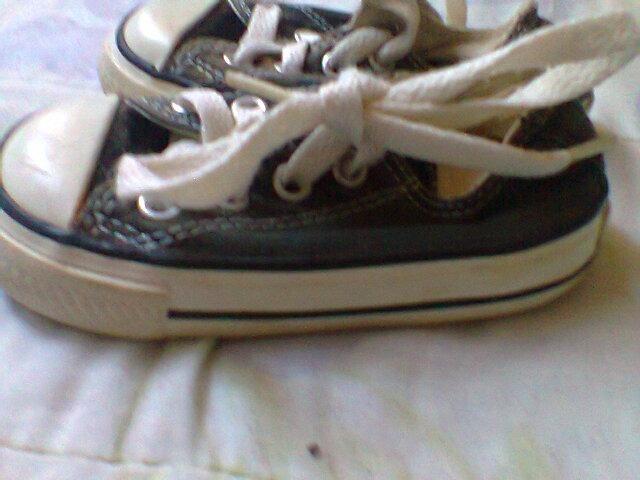 bfd60652fc84e Zapatos Converse Color Negro Numero 21 - Bs. 100