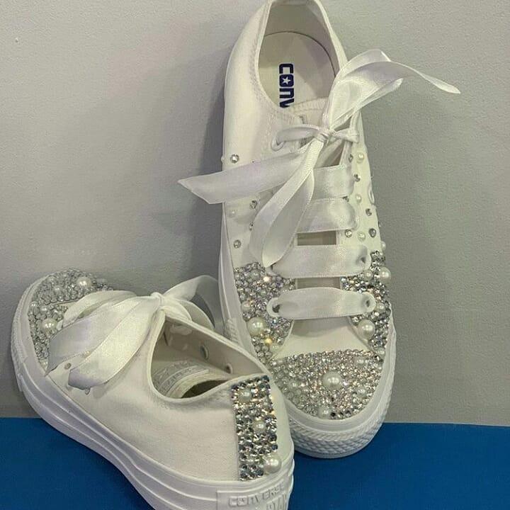 Zapatos Converse Decorados Para Novias Quinceañeras