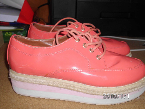 zapatos creepers coral talle 36