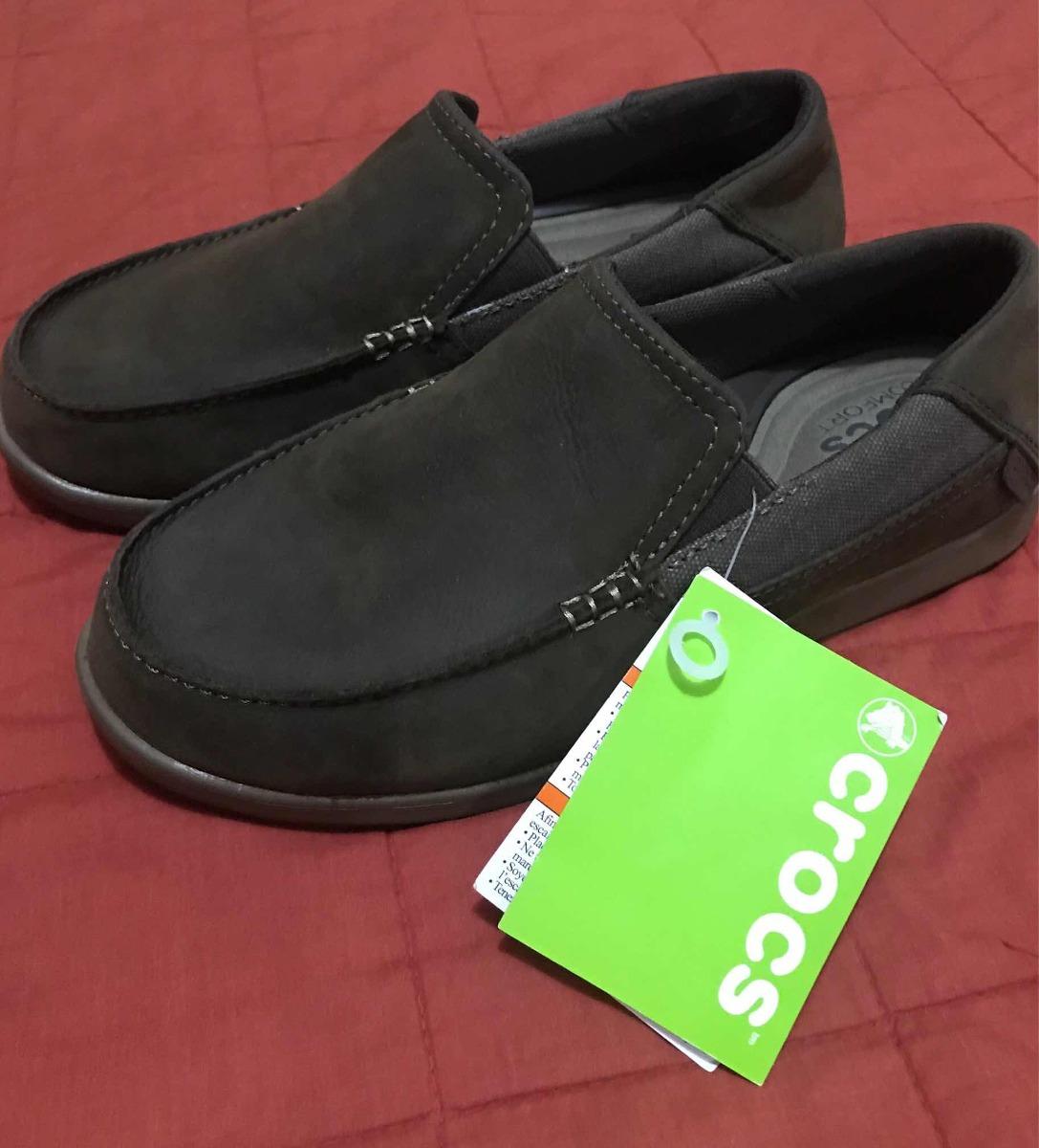 31d06ee77d4a Zapatos Crocs Originales De Cuero Talla 7 (38 39) - Bs. 650