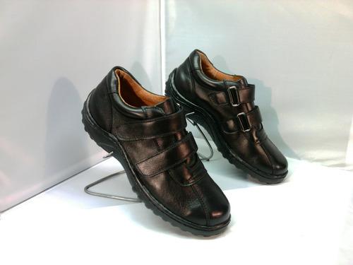 zapatos cuero c/ velcrom 123