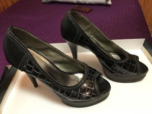 zapatos cuero croco