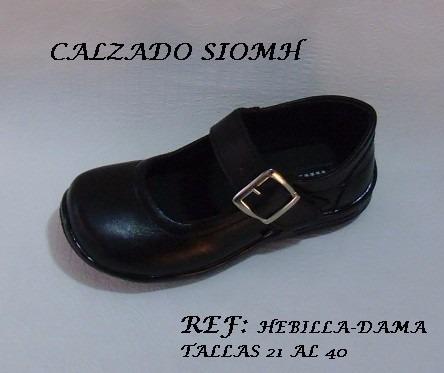 bbe5013cd5c Zapatos Cuero Negro Calzado Colegio Niña Joven Mafalda -   45.465 en ...