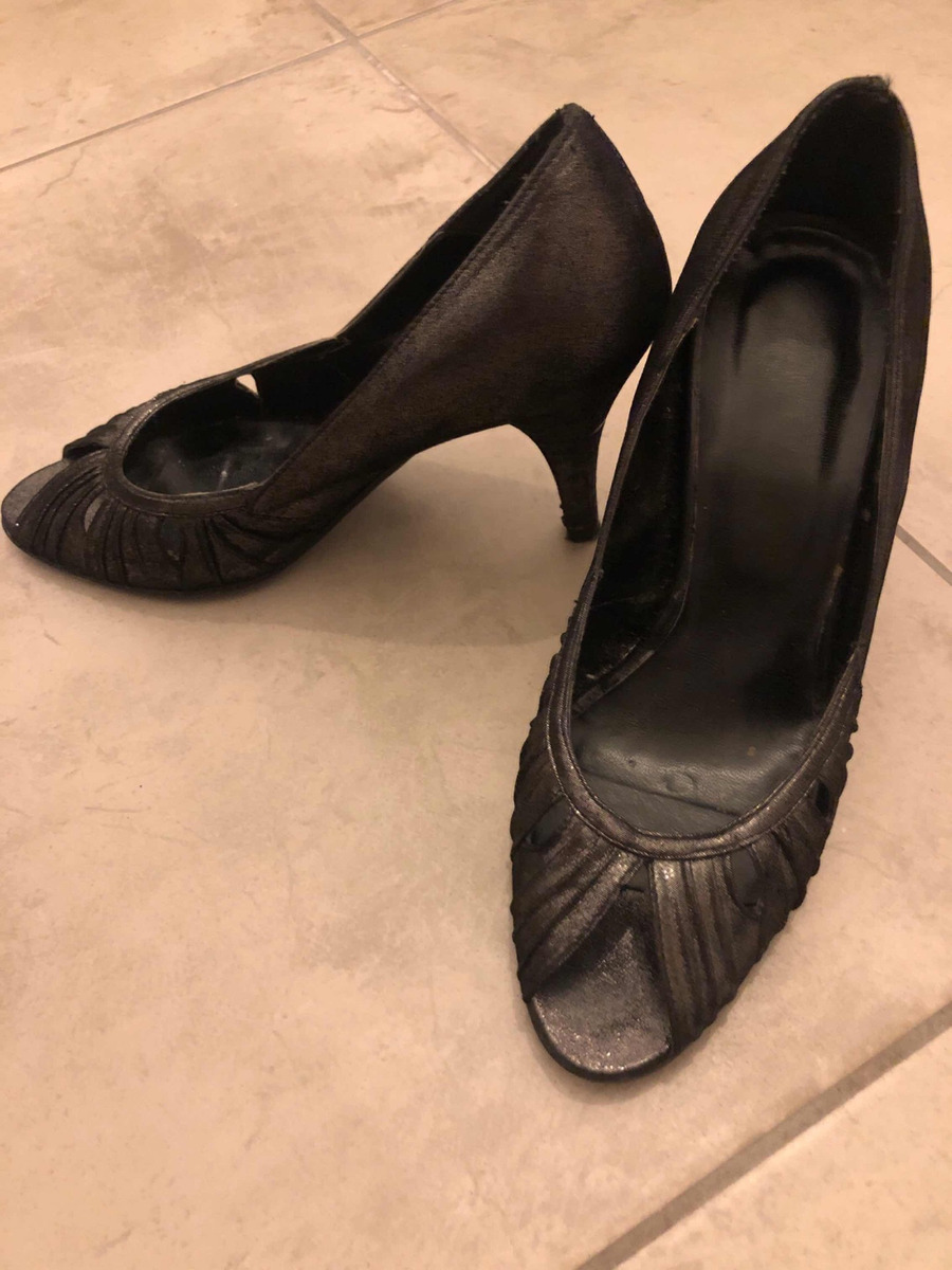 2f2e6c9a25a Metalizado Zapatos 36 Mujer Talle Taco Negro Zoom Cuero Cargando 8cm  PPfRUwxBq