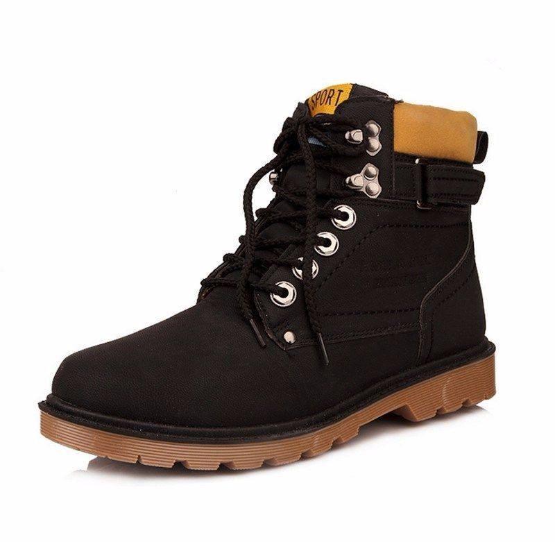 846ea79f Zapatos Cuero Tipo Botas Botines Para Hombre Tipo Cat - S/ 150,00 en ...