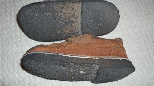 zapatos cuero y suela de caucho natural niño talle 28