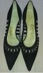 34 Zapatos Antiguos De Años 60Talla CueroOriginales Dama by7gf6