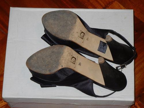zapatos dama de fiesta.elegantes nr 35 c/taco 10cm y plataf