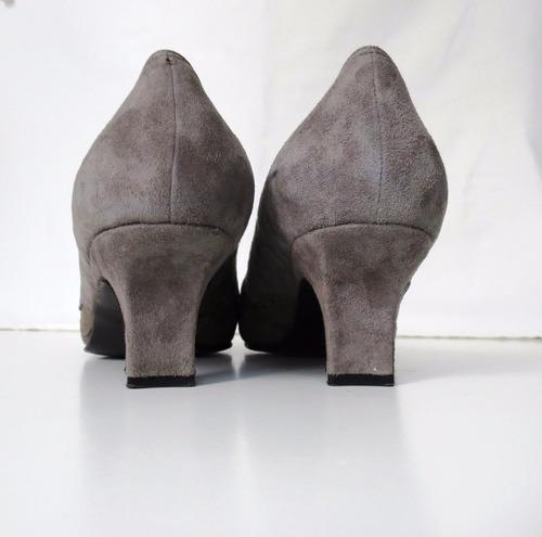 zapatos dama gamuza y cuero marca laura first no. 39