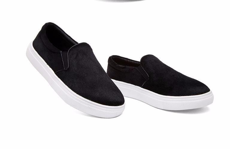 Zapatos Dama Piso Plataforma Casual Negro Piel Tennis Flat . c0a04d266f6d