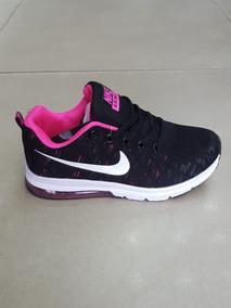 Nike Max Air Zapatos Damas Negrofucsia sQBtrCohxd