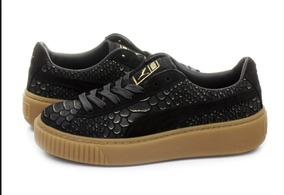 Puma 39 Talla Plataforma Damas Negro Zapatos Exotskin CxoQrdBeWE