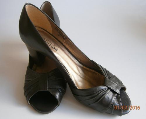 zapatos dama.t. 37. cuero. taco bajo, ideales para trabajar