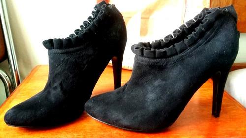 zapatos daniel cassin no 37. color negro en gamuza sintética