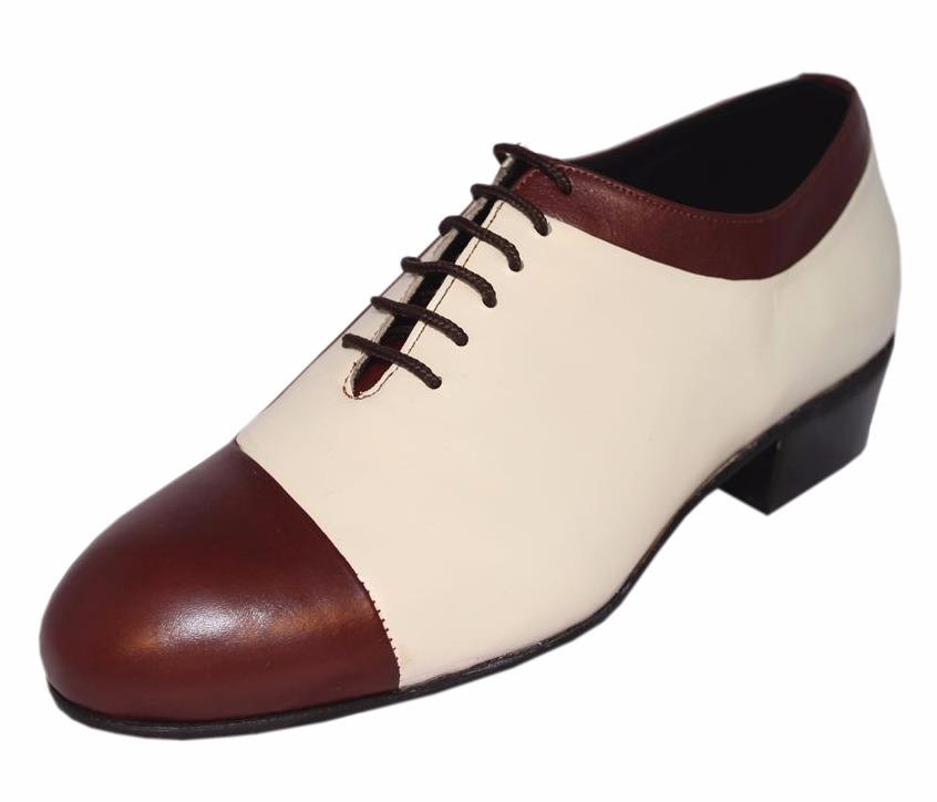 marron tango salsa zoom ycrema hombre cuero rock baile Cargando zapatos de xCwn6qtC0