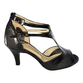 Zapatos De Baile Tango Salsa Rock Fiesta Danza Flex Taco 6,5