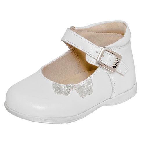 niña zapatos bebe piel dogi oi 8744 blanco de qB6wpP