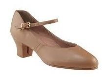 zapatos de caracter tango folclore cuero beige capezio