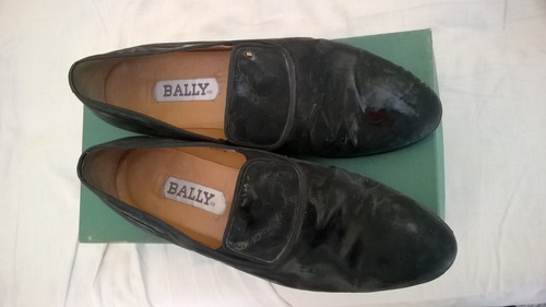 zapatos de charol negro talle 42