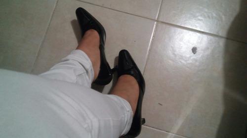 zapatos de charon con tacon bajito formales talla 3 y medio