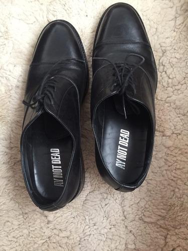 zapatos de cuero ay not dead talle 42