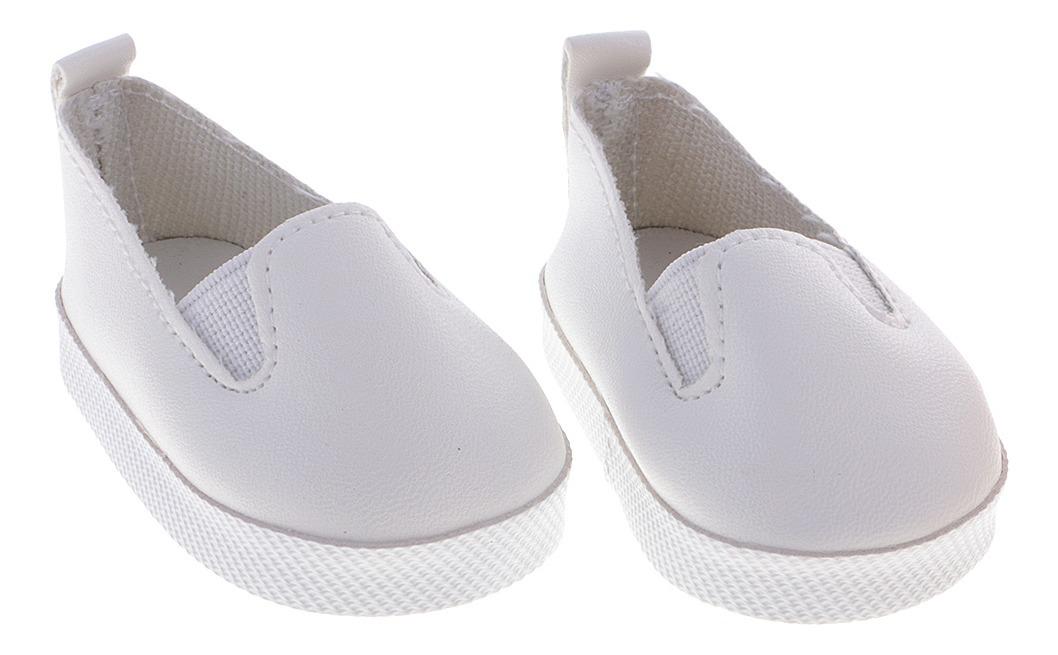 comprar online 90c71 6ee75 Zapatos De Cuero De La Pu Sin Cordones Blancos Ocasionales