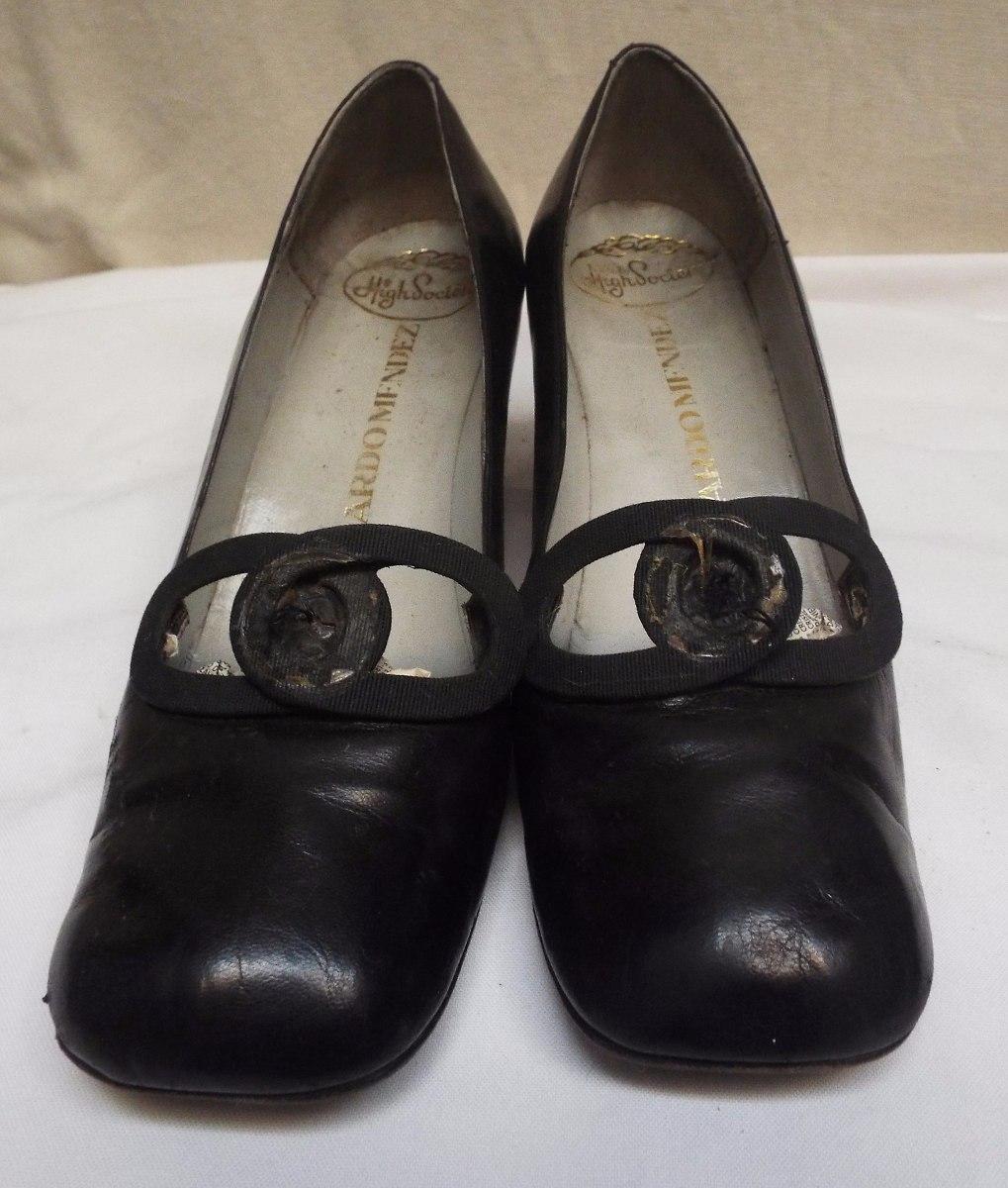 250 Zapatos Talle Cuero 00 Mujer De Medio En Taco 36 Con 4xqTfqOw8U
