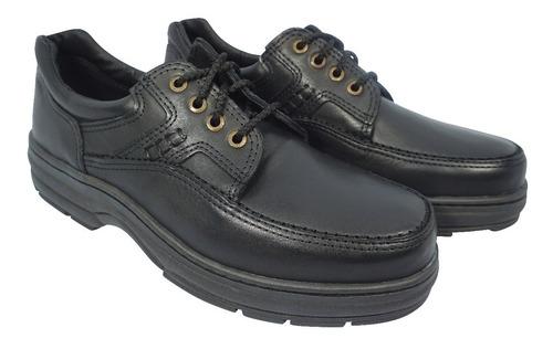 zapatos de cuero  hombre base febo art 5381 negro para papa