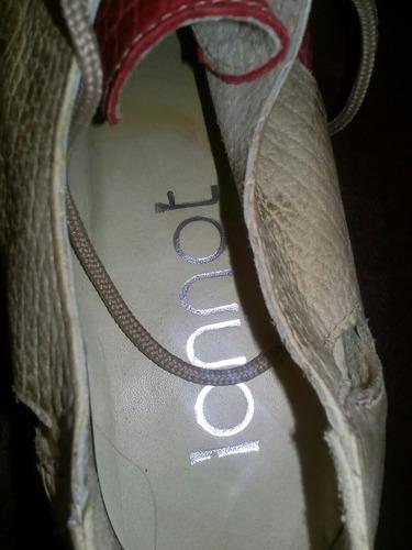 zapatos de cuero lannot de dama talle 37 sin uso