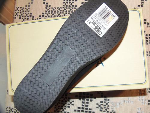 zapatos de cuero, marca regatta de mujer, n°37 negros - reno