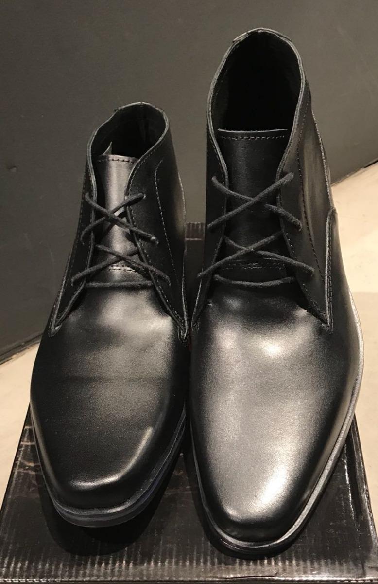 685902b6b Zapatos De Cuero Media Caña Negro En Punta Vestir Hombre - $ 2.000 ...