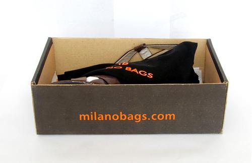 zapatos de cuero milano bags color café taco 7