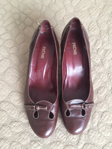 zapatos. de cuero prune