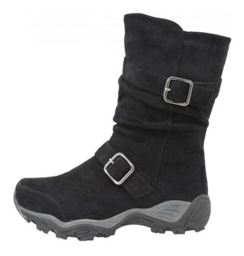 zapatos de dama botín ofrial negro agta