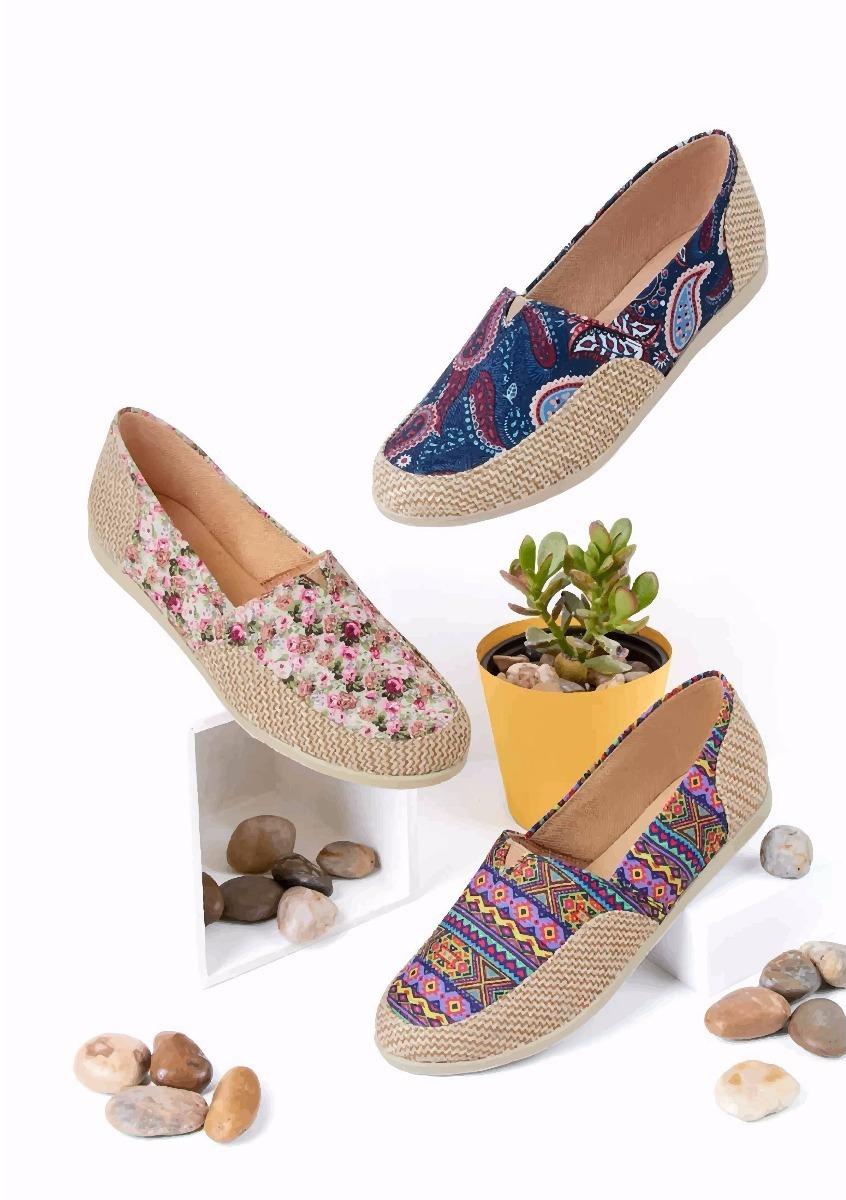 Zapatos De Dama Tipo Alpargata Mundo Terra 3x1 -   960.00 en Mercado Libre 447fd0a57df6f