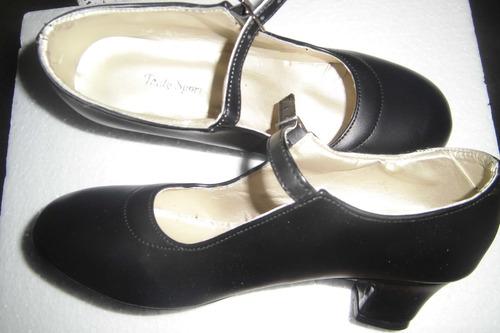 zapatos de danzas y baile flamenco nuevos