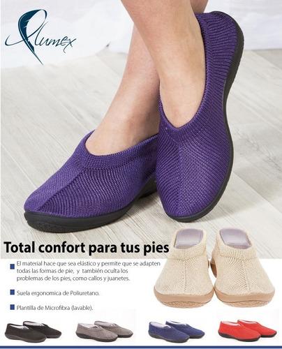 zapatos de descanso plumex para abuelas, tías en marrón