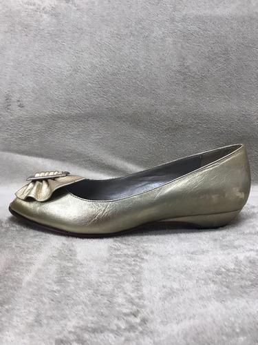 zapatos de fiesta dorados ferraro