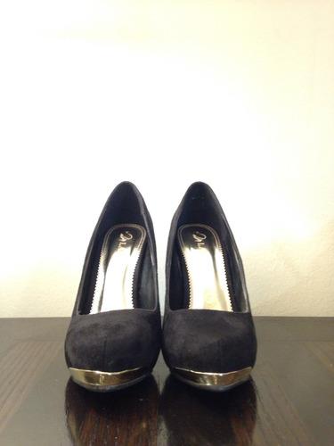 zapatos de fiesta mujer taco alto negro número 37
